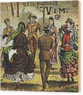 Trade Card, C1880 Wood Print