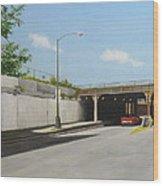 Traffic On Damen Wood Print