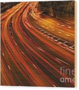 Traffic River Wood Print