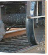 Train Tires Wood Print