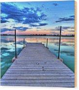 Tranquil Dock Wood Print