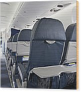 Tray Table On An Airplane Wood Print by Jaak Nilson