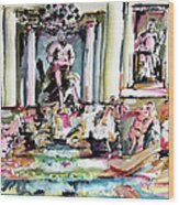 Trevi Fountain Rome Italy  Wood Print