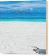 Tropical Beach Panorama Wood Print