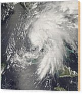 Tropical Storm Fay Wood Print