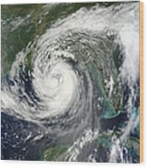 Tropical Storm Isaac Moving Wood Print