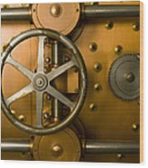 Tumbler Bank Vault Door Wood Print by Adam Crowley