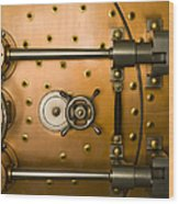 Tumbler On A Vault Door Wood Print