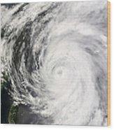 Typhoon Man-yi Wood Print