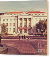 Uc Berkeley . Sproul Hall . Sproul Plaza . Occupy Uc Berkeley . 7d9994 Wood Print by Wingsdomain Art and Photography