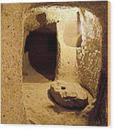 Underground Caves Derinkuyu Wood Print