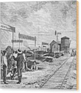Underground Village, 1874 Wood Print
