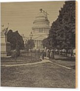 United States Capitol Building In 1863 Wood Print