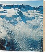 Upper Level Of Fox Glacier In New Zealand Wood Print
