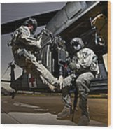U.s. Air Force Crew Strapped Wood Print
