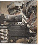 U.s. Army Rangers In Afghanistan Combat Wood Print