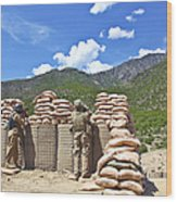 U.s. Army Soldier And An Afghan Wood Print