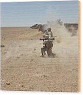 U.s. Marines Fire Several Wood Print