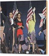 U.s. President Elect Senator Barack Wood Print by Everett