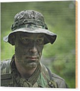 U.s. Special Forces Soldier Wood Print