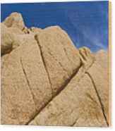 Usa, California, Joshua Tree National Park, Rock Formations Wood Print