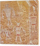 Usa, Utah And Colorado, Dinosaur National Monument, Petroglyphs Wood Print