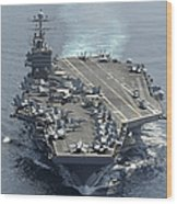 Uss Abraham Lincoln Transits The Indian Wood Print