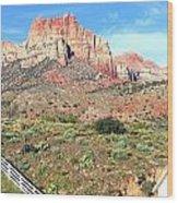 Utah Cactus Field Wood Print