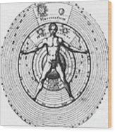 Utrisque Cosmi, Title Page, 1617 Wood Print by Science Source