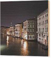 Venice By Night Wood Print