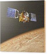 Venus Express Mission, Artwork Wood Print