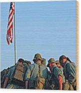 Veterans Remember Wood Print