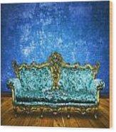 Victorian Sofa In Retro Room Wood Print