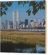 View From Liberty State Park Wood Print