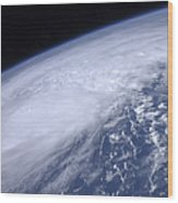 View From Space Of Hurricane Irene Wood Print