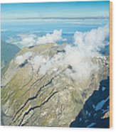 View On To Fox Glacier In South New Zealand Wood Print