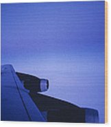 View Out The Window Of A Boeing 707 Wood Print