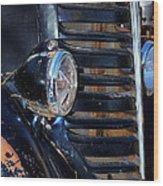Vintage Car Grill Wood Print