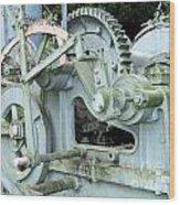 Vintage Steam Powered Lumber Collector Wood Print