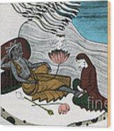 Vishnu And Lakshmi Wood Print