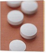 Vitamin C Tablets Wood Print