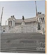 Vittoriano Monument To Victor Emmanuel II. Rome Wood Print