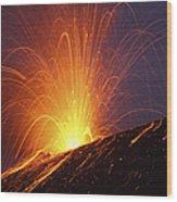 Vulcanian Eruption Of Anak Krakatau Wood Print