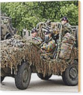Vw Iltis Jeeps Used By Scout Or Recce Wood Print