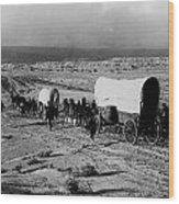 Wagon Train Wood Print