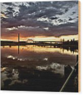 Wakamaw Valley Sunrise Wood Print