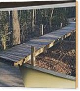 Walk Bridge Wood Print
