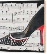 Waltzing Pumps Wood Print