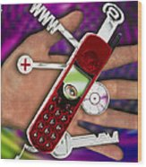 Wap Mobile Telephone Wood Print