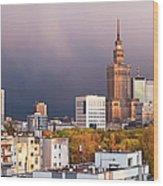 Warsaw Cityscape Wood Print